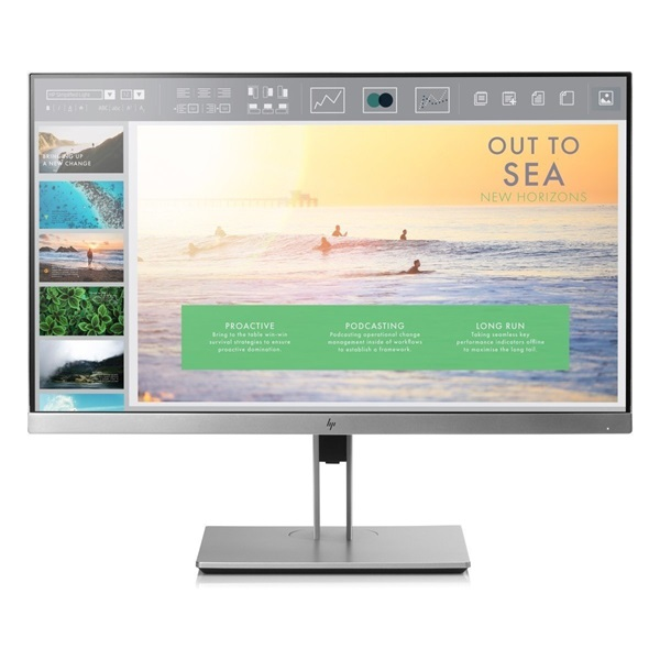HP 23,8 1FH47AA EliteDisplay E243 full HD IPS LED VGA HDMI DP ezüst-fekete monitor - 4
