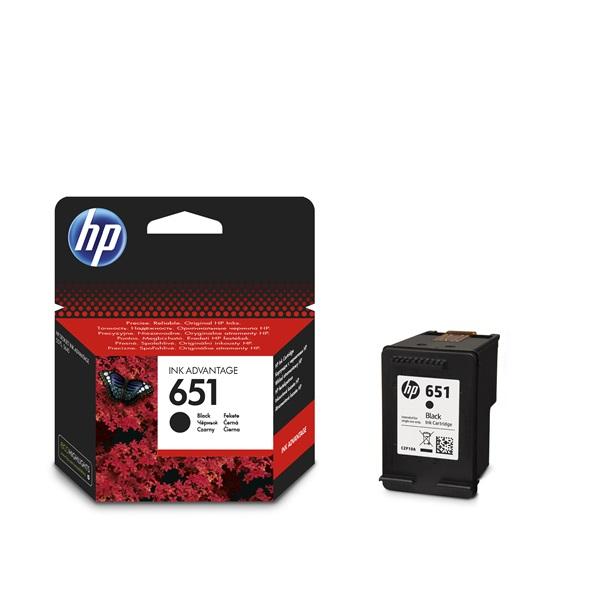 HP C2P10AE (651) fekete tintapatron - 1