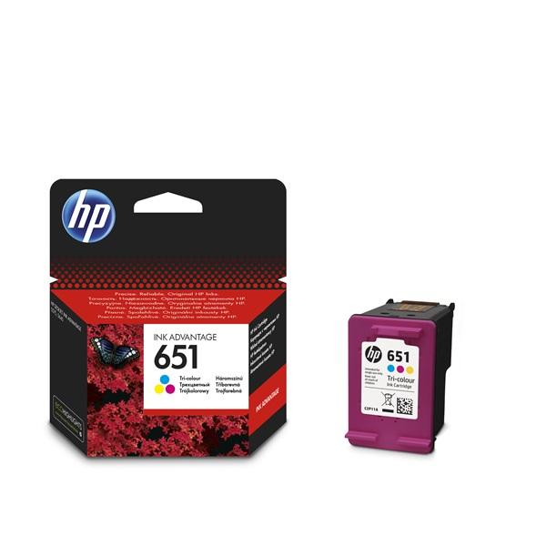 HP C2P11AE (651) háromszínű tintapatron - 1