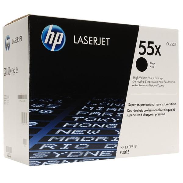 HP CE255X (55X) fekete nagykapacitású toner - 1