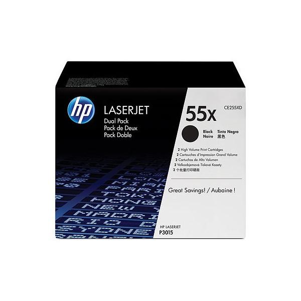 HP CE255XD (55X) fekete duo-pack nagykapacítású toner - 1