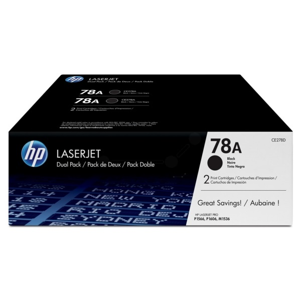 HP CE278AD (78A) duo-pack fekete toner - 1