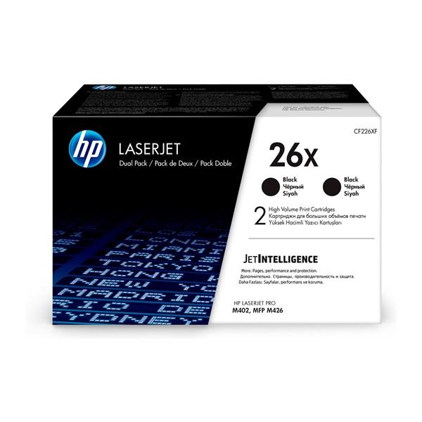 HP CF226XD (26X) fekete duo-pack nagykapcítású toner - 1