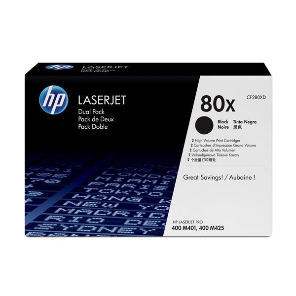 HP CF280XD (80X) fekete duo-pack nagykapacítású toner - 1