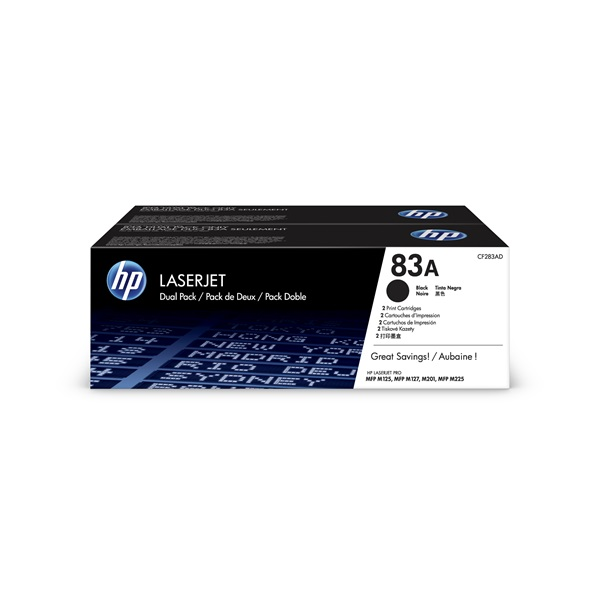 HP CF283AD (83A) fekete duo-pack toner - 1