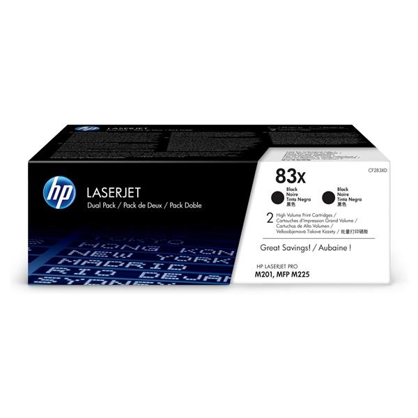 HP CF283XD (83X) fekete duo-pack nagykapacítású toner - 1