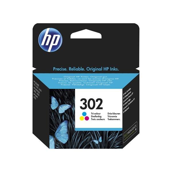 HP F6U65AE (302) háromszínű tintapatron - 1