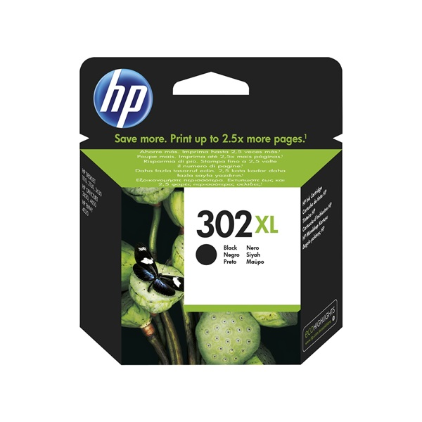HP F6U68AE (302XL) fekete tintapatron - 1
