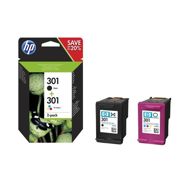 HP N9J72AE 301 tri-color és fekete tintapatron csomag - 1