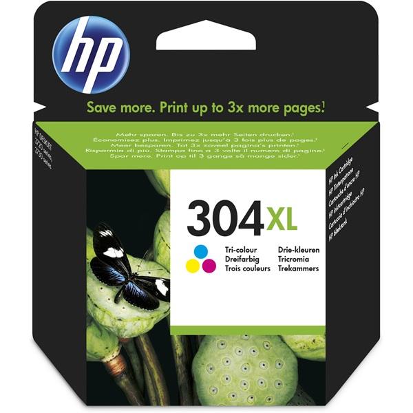 HP N9K07AE (304XL) háromszínű  XL tintapatron - 1