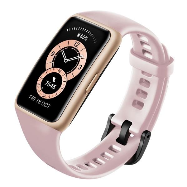 Huawei Band 6 Sakura Pink aktivitásmérő karpánt - 2