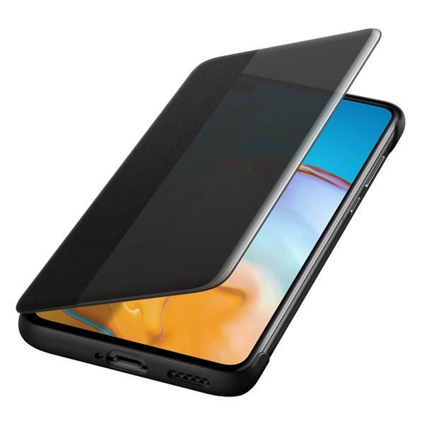 Huawei HUA-SVIEW-P40-BK P40 s-view fekete flip tok - 3