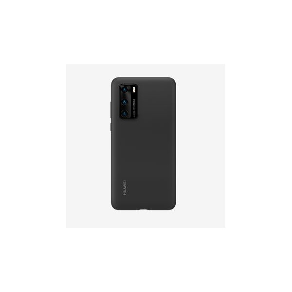 Huawei HUA-TPU-P40-BK P40 fekete szilikon hátlap - 1