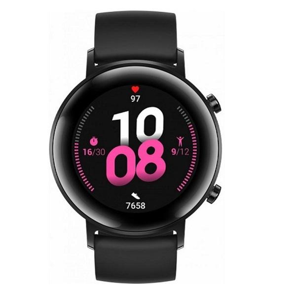Huawei Watch GT 2 42mm Night Black fekete sport okosóra - 2