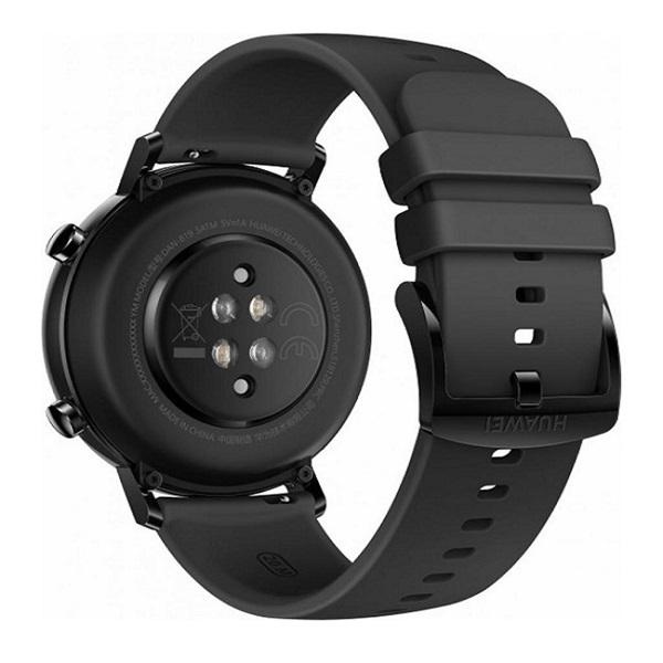 Huawei Watch GT 2 42mm Night Black fekete sport okosóra - 3