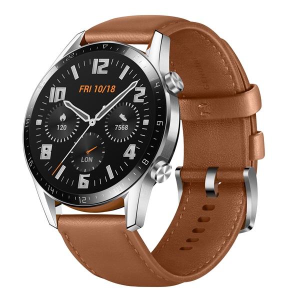 Huawei Watch GT 2 46mm Pebble Brown barna sport okosóra - 2