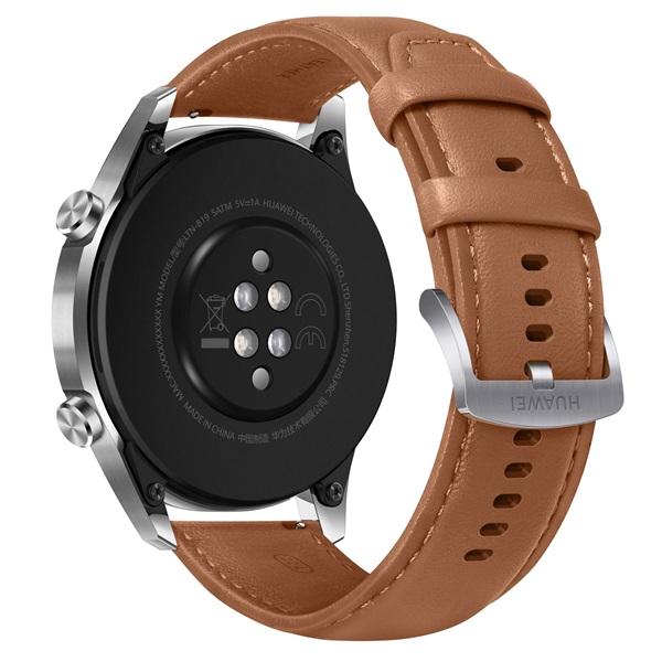 Huawei Watch GT 2 46mm Pebble Brown barna sport okosóra - 3