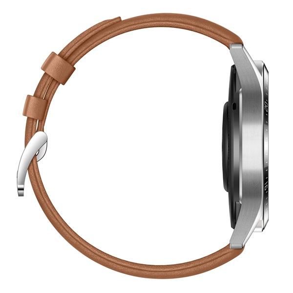 Huawei Watch GT 2 46mm Pebble Brown barna sport okosóra - 5