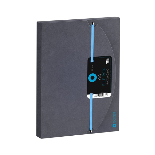 ICO Boxer A4 2,8cm fekete gumis box - 1