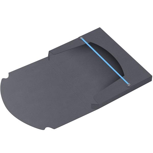 ICO Boxer A4 2,8cm fekete gumis box - 3