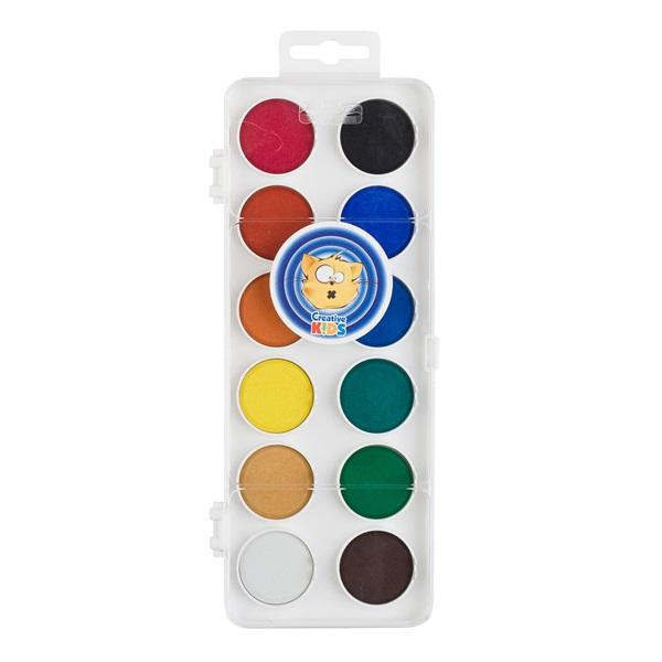 ICO Creative Kids 30mm 12 féle színű vízfesték készlet - 1