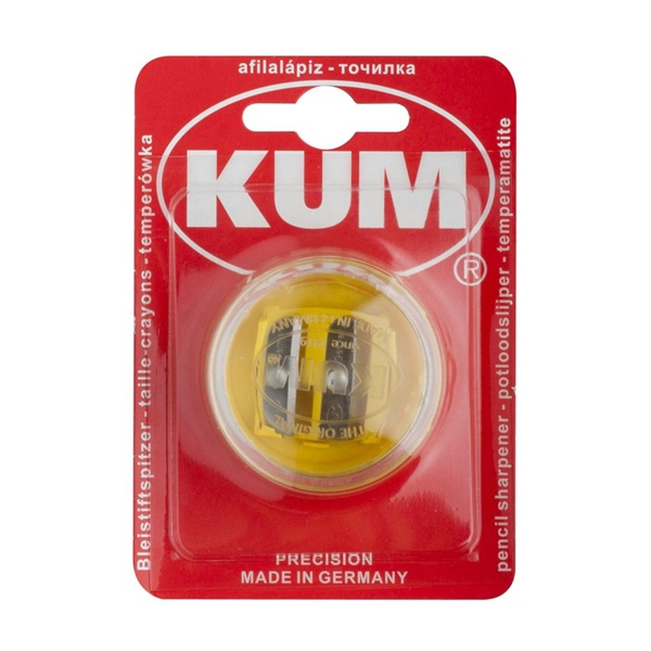 ICO KUM 1020522 2 lyukú kerek műanyag hegyező - 1