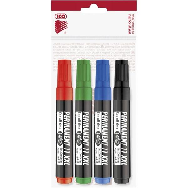 ICO Permanent 11 XXL 4db színes marker - 1