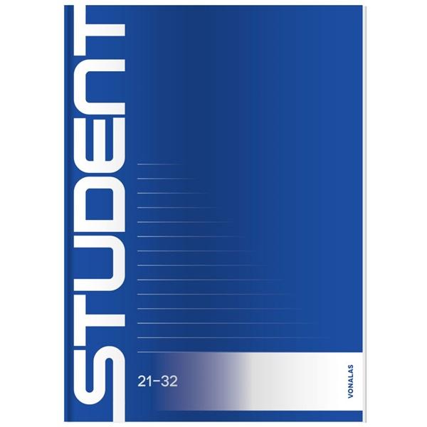 ICO Student A5 vonalas füzet - 2