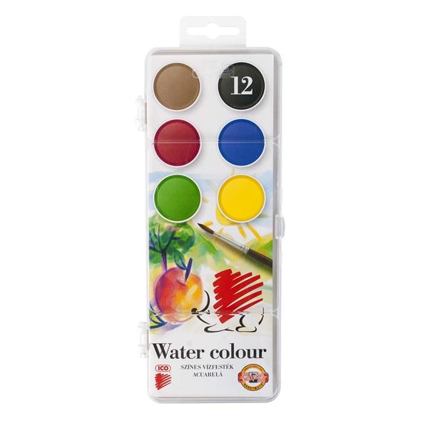 Ico Süni 30mm 12 féle színű vízfesték készlet - 1