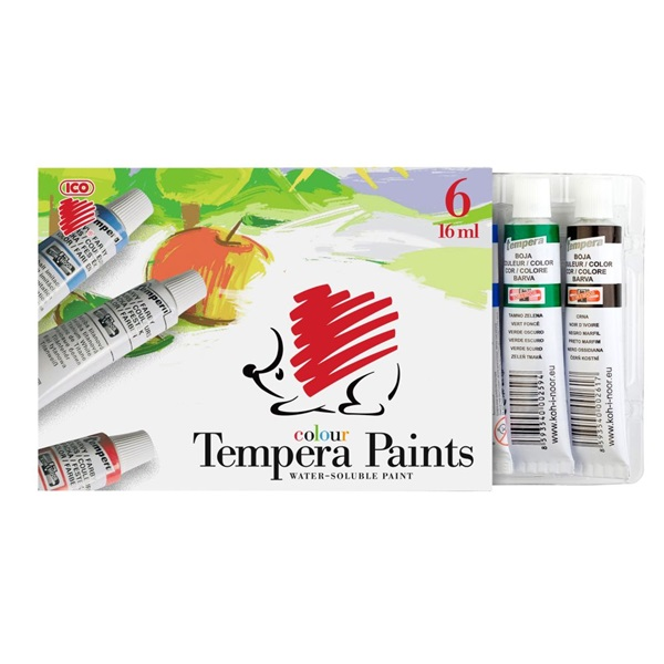 ICO Süni 6 színű tempera készlet - 1