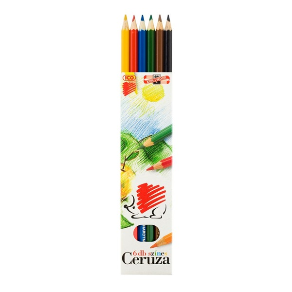 ICO Süni 6db-os vegyes színű színes ceruza - 1