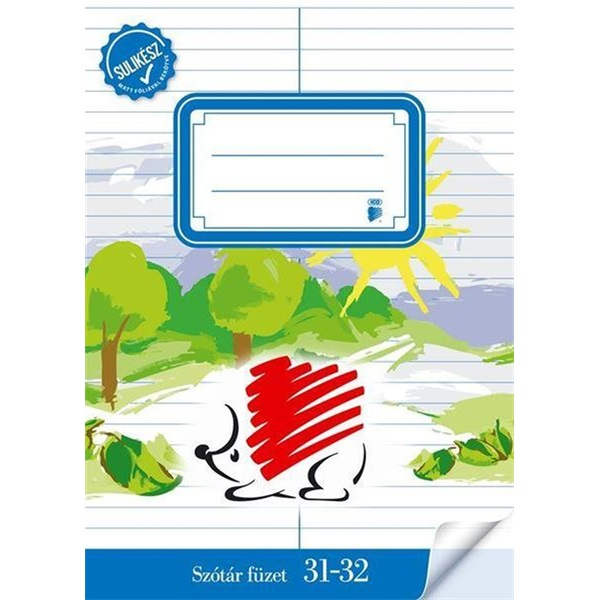 ICO Süni A5 31-32 szótárfüzet - 1