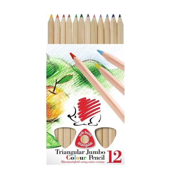 ICO Süni háromszög alakú natúr 12db-os vegyes színű színes ceruza - 1