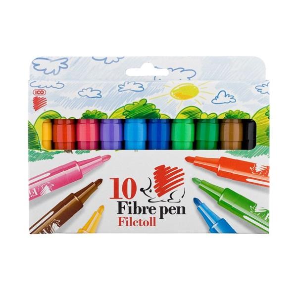 ICO Süni vastag 10db-os vegyes színű marker - 1