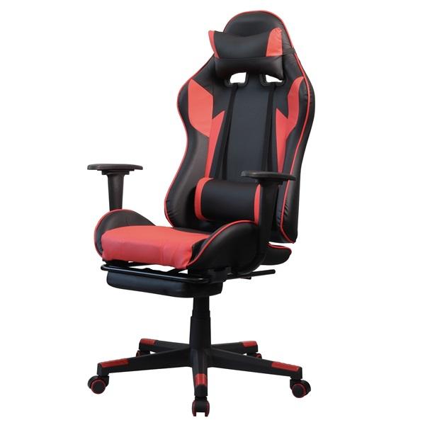 Iris GCG204BR_FT fekete / piros gamer szék - 2