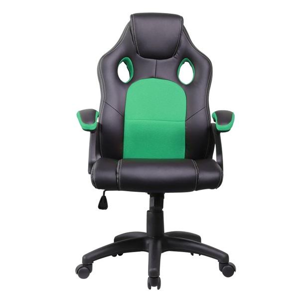 Iris GCH102BE fekete / zöld gamer szék - 1
