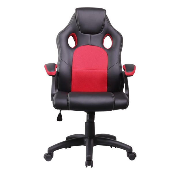 Iris GCH102BR fekete / piros gamer szék - 1