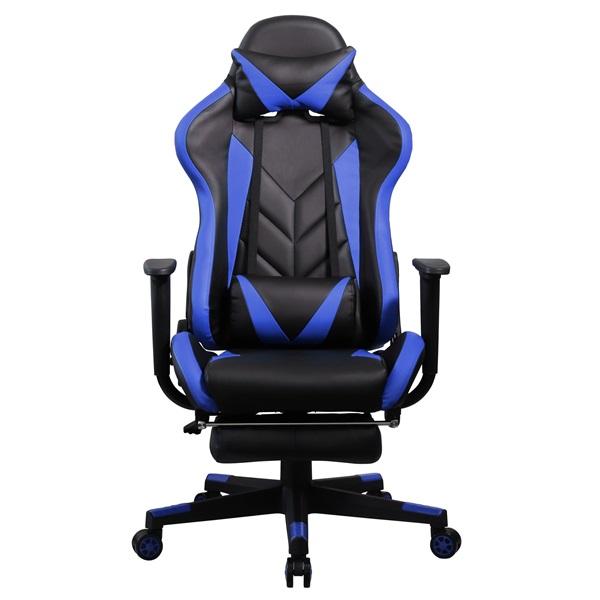 Iris GCH200BK fekete / kék gamer szék - 1