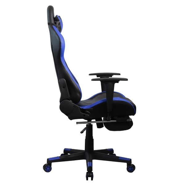 Iris GCH200BK fekete / kék gamer szék - 2