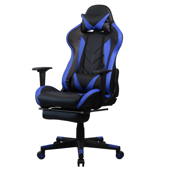 Iris GCH200BK fekete / kék gamer szék - 3