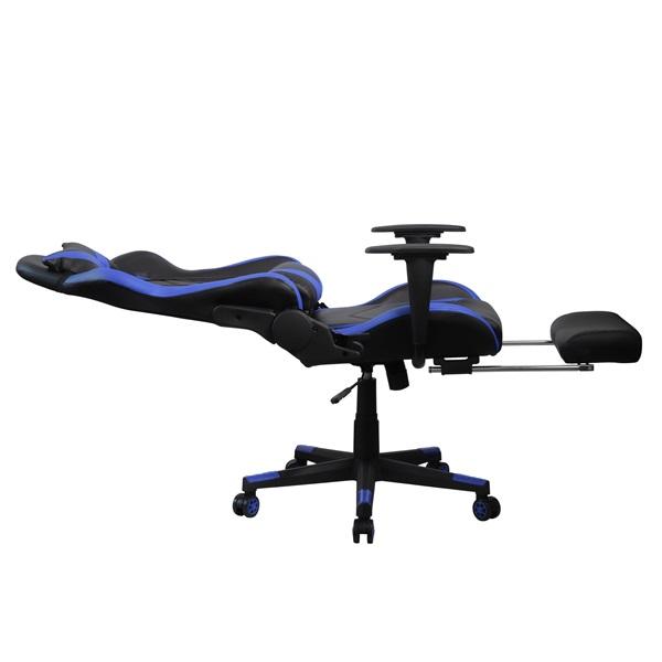 Iris GCH200BK fekete / kék gamer szék - 4