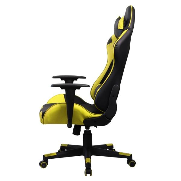 Iris GCH201BC fekete / citromsárga gamer szék - 2