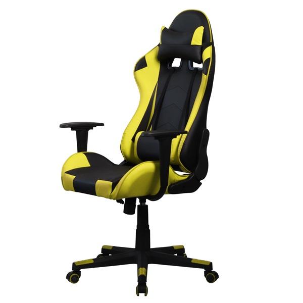 Iris GCH201BC fekete / citromsárga gamer szék - 3