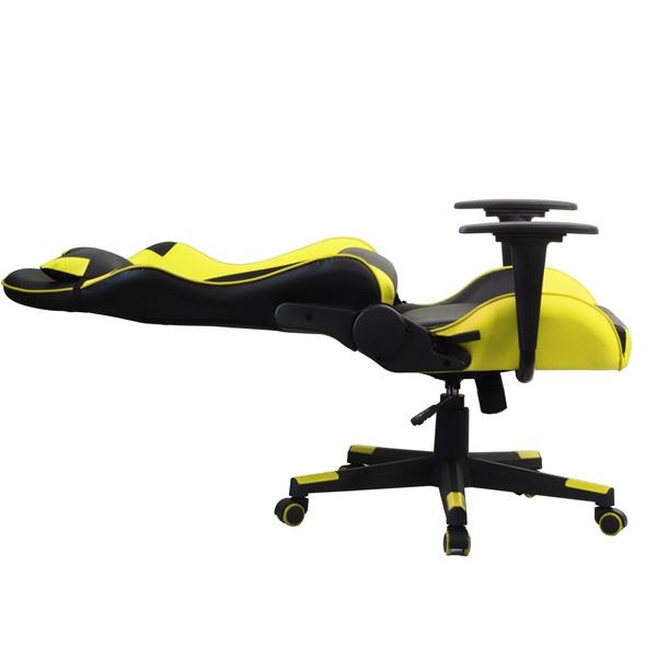 Iris GCH201BC fekete / citromsárga gamer szék - 4