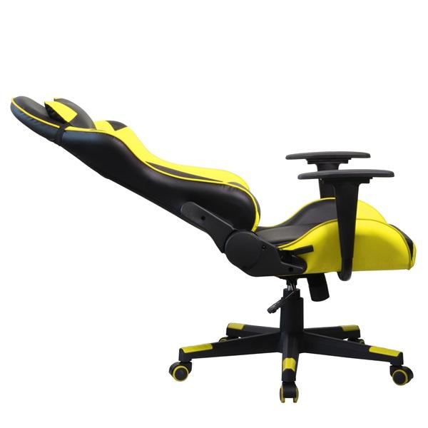 Iris GCH201BC fekete / citromsárga gamer szék - 5