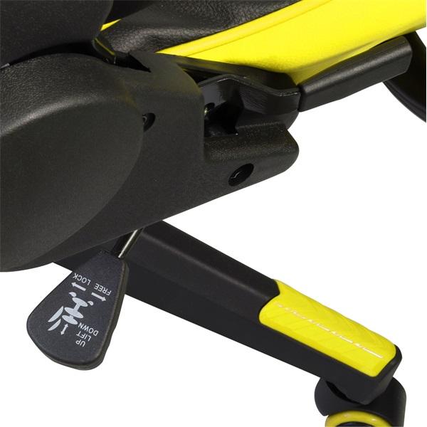 Iris GCH201BC fekete / citromsárga gamer szék - 6