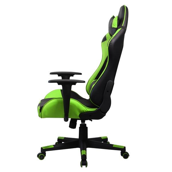 Iris GCH201BE fekete / zöld gamer szék - 2