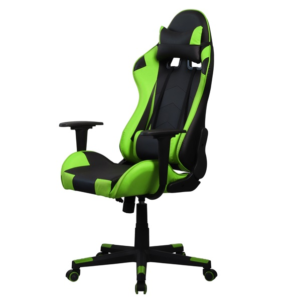 Iris GCH201BE fekete / zöld gamer szék - 3