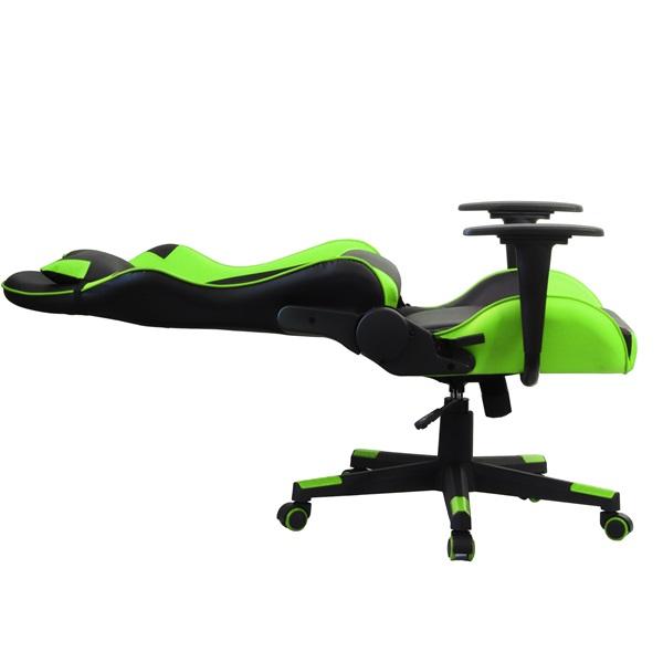 Iris GCH201BE fekete / zöld gamer szék - 4