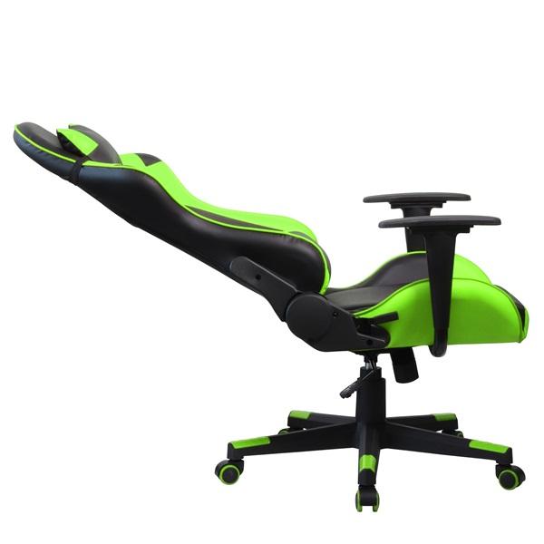 Iris GCH201BE fekete / zöld gamer szék - 5